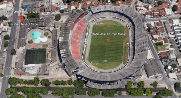 Sede Santa Cruz Futebol Clube 58.441,13m2